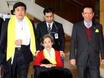 '북한 인권' 국회대표단 귀국 기자회견
