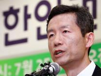 북한인권운동가 김영환 석방 기자회견