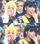박봄 눈물, 우는 표정 조금…