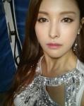 카라 박규리, 무대 후 셀카…