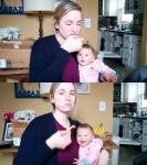감자칩 먹는 엄마 보고 깔…