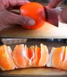 오렌지 껍질 벗기는 가장…