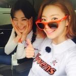 리지·박수진, SK-넥센 경…