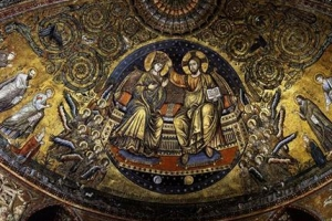 [세계의 조형예술 龍으로 읽다] <34>성모대관(聖母戴冠) 벽화와 고려 은제 사리함