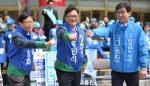 [서울포토] '우리는 총선 어벤저스 삼총사!'
