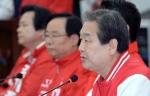 [서울포토]새누리당 중앙선거대책회의서 발언하는 김무성 대표