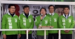 [서울포토] 인천에서 지원유세하는 안철수