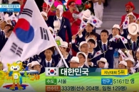 (영상) 한국 선수단, 반기문 총장 박수받으며 입장