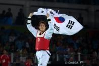 (영상) 김소희, 태권도 첫 金 발차기