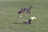 美 고등학생의 360도 공중돌기 슛 화제