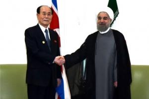 이란 대통령 만난 北 김영남