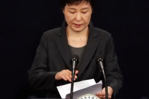 [서울포토] 대통령 수사 불가피…박근혜 대통령, '최순실 국정개입' 의혹 관련 대국…