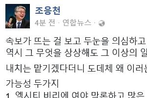 """朴대통령 '엘시티 엄단 지시'에 조응천 """"검찰 수사 경과를 보고받는 모양"""""""