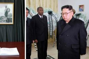 김정은, 쿠바 대사관 방문… 카스트로 사망 조의