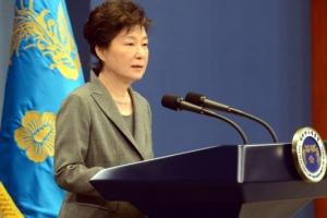 [서울포토] 제3차 대국민 담화 발표하는 朴대통령