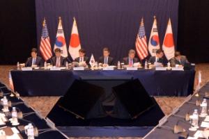 [서울포토]한미일 6자회담 수석대표 서울 회동