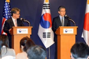 대북제재 공조 나선 한·미·일 6자 수석대표