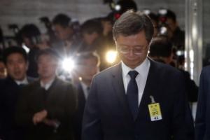 [서울포토] '무거운 발걸음'…우병우 전 청와대 민정수석