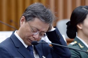 [서울포토] '아, 어렵다'…우병우 전 청와대 민정수석