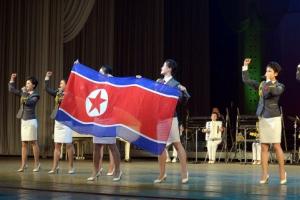 [포토] 북한, U-20 여자월드컵 우승 선수단 축하연