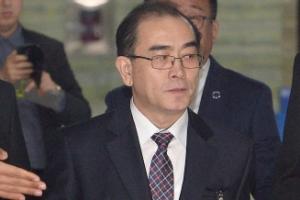 [서울포토] 국회 정보위 출석한 태영호 前 북한대사관 공사