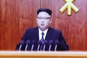 """김정은 육성 신년사 """"ICBM 시험발사 단계""""…'촛불 정국' 언급도(종합)"""