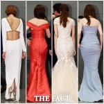 여배우들의 드레스 뒷태