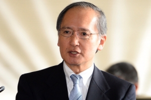 [서울포토] 취재진 질문에 답하는 주한 일본대사