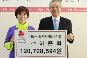 가수 하춘화, 데뷔 55주년 공연 수익금 1억 2000만원 전액 기부