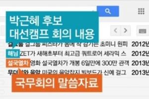 """최순실 태블릿, 靑문건 담은 '위장 제목' 이메일…""""걸그룹, 설국열차"""""""