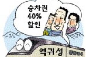 [엄지 척! 오늘의 정보] 설 역귀성 승차권 40% 할인