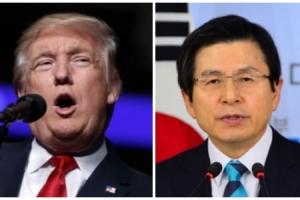 """트럼프 """"미국은 언제나 100% 한국과 함께 할 것""""... 黃 대행과 첫 30분 통화"""