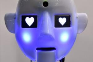 [포토] 두 눈에 '하트'…감정 표현하는 로봇 '로보테스피안'
