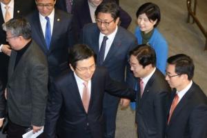 黃대행 교섭단체 대표연설 참석