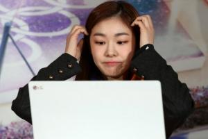 [포토] 김연아, '평창올림픽 G-1년' 행사 참석…입장권 예매 시연까지