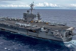 美 항공모함 칼빈슨호 괌 도착…한미연합훈련 참가 예상