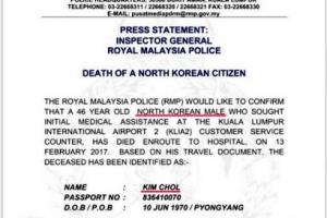 김정남 여권 '김철' 가명 사용