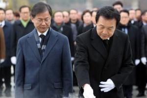 손학규, 黨지도부 동행 光州 순회