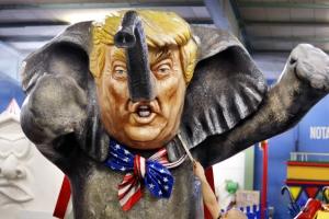 [포토] '코끼리가 된 도널드 트럼프'
