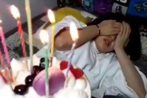 아빠의 새벽녘 생일 축하에 전소미가 보인 반응