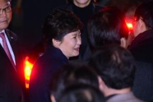 박근혜 전 대통령 사저 도착하던 날 이모저모