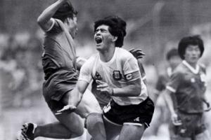 """허정무 만난 마라도나 """"1986년 월드컵 태권 축구 기억해"""""""