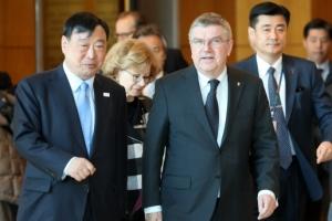 바흐 IOC위원장 평창 방문