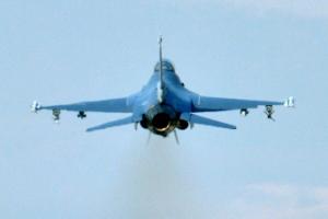 [서울포토] 오산 공군기지, F-16 전투기 '출격'