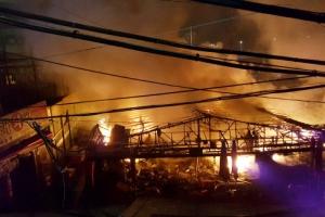 소래포구 화재…어시장 좌판 220개·상점 20곳 불타, 피해액 6억 5000만원 추정