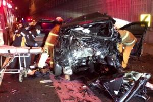 음주운전 차량 추돌…일가족 탄 SUV 들이받아 1명 숨져