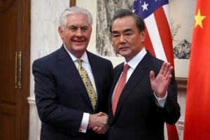 """미·중 외교장관 """"한반도 정세 위험수준"""" 공감대…북핵 해법 입장차"""