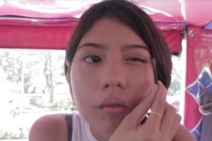 오토바이택시서 화장을?…필리핀 소녀의 메이크업 영상 인기
