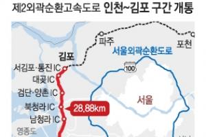 인천 송도~ 김포 한강 고속道 25분에 달린다