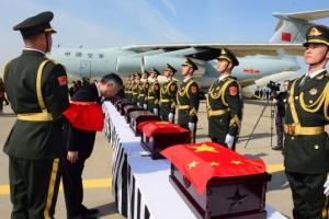 사드 갈등에도 중국군 유해 인도식